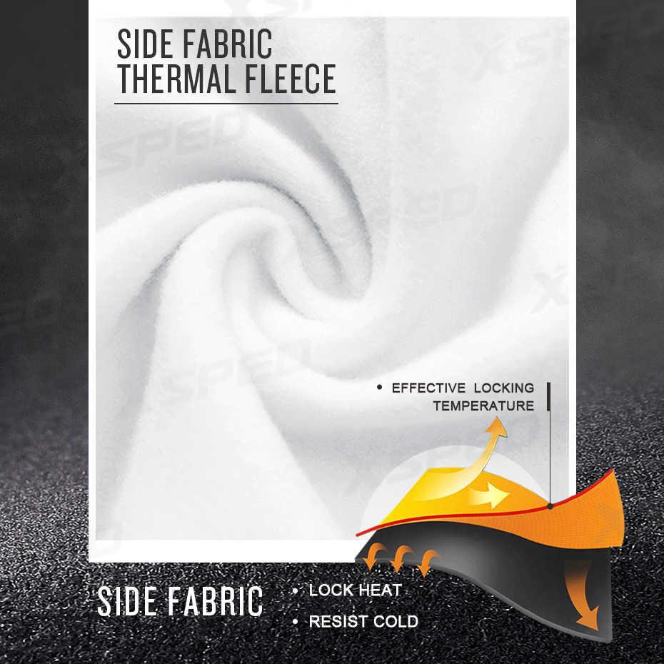 Ropa de ciclismo sudadera de manga larga de invierno de alpín conjunto de lana térmica ropa deportiva a prueba de viento chaqueta de ciclismo traje deportivo para hombres