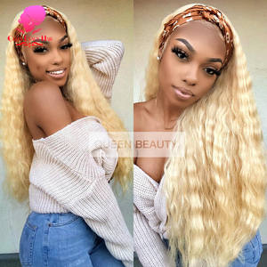 Image 5 - QUEEN BEAUTY 1 3 4 Pcs 613 Blonde Bundles Brazilian Curly Weave Human Hair Blonde Deep Wave 8   30 inch Hair Weft Free Shipping