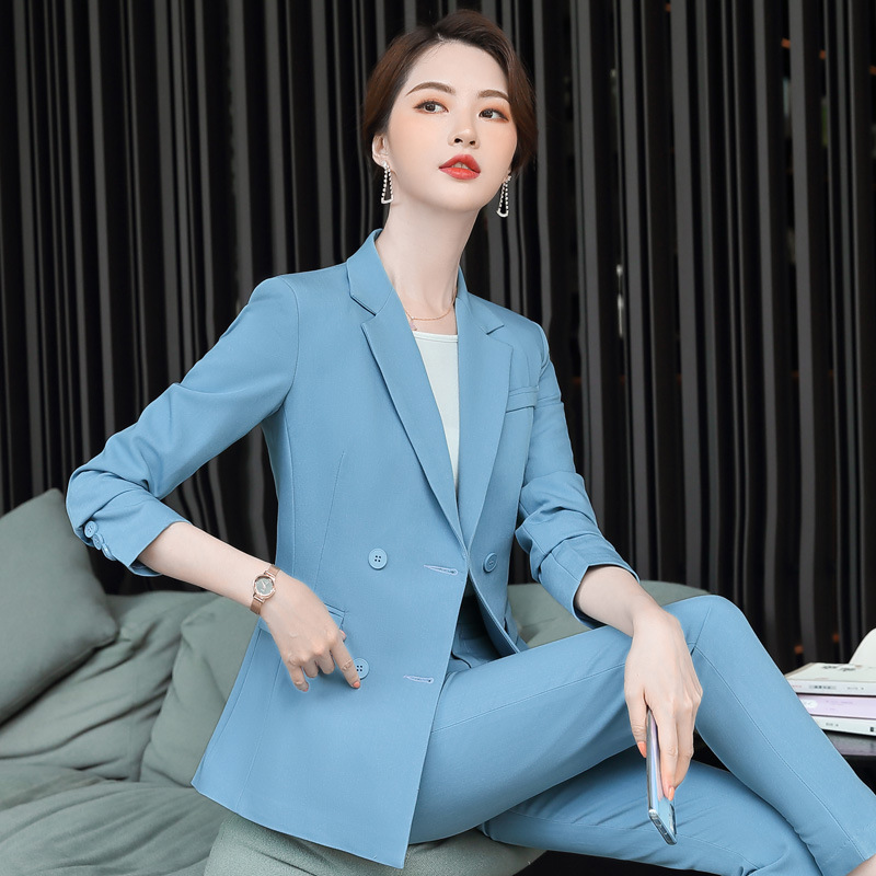 High Quality Fabric Professional Women's Pants Suit Feminine 2020 Casual Elegant Ladies Blazer Jacket Two-piece Slim Trousers