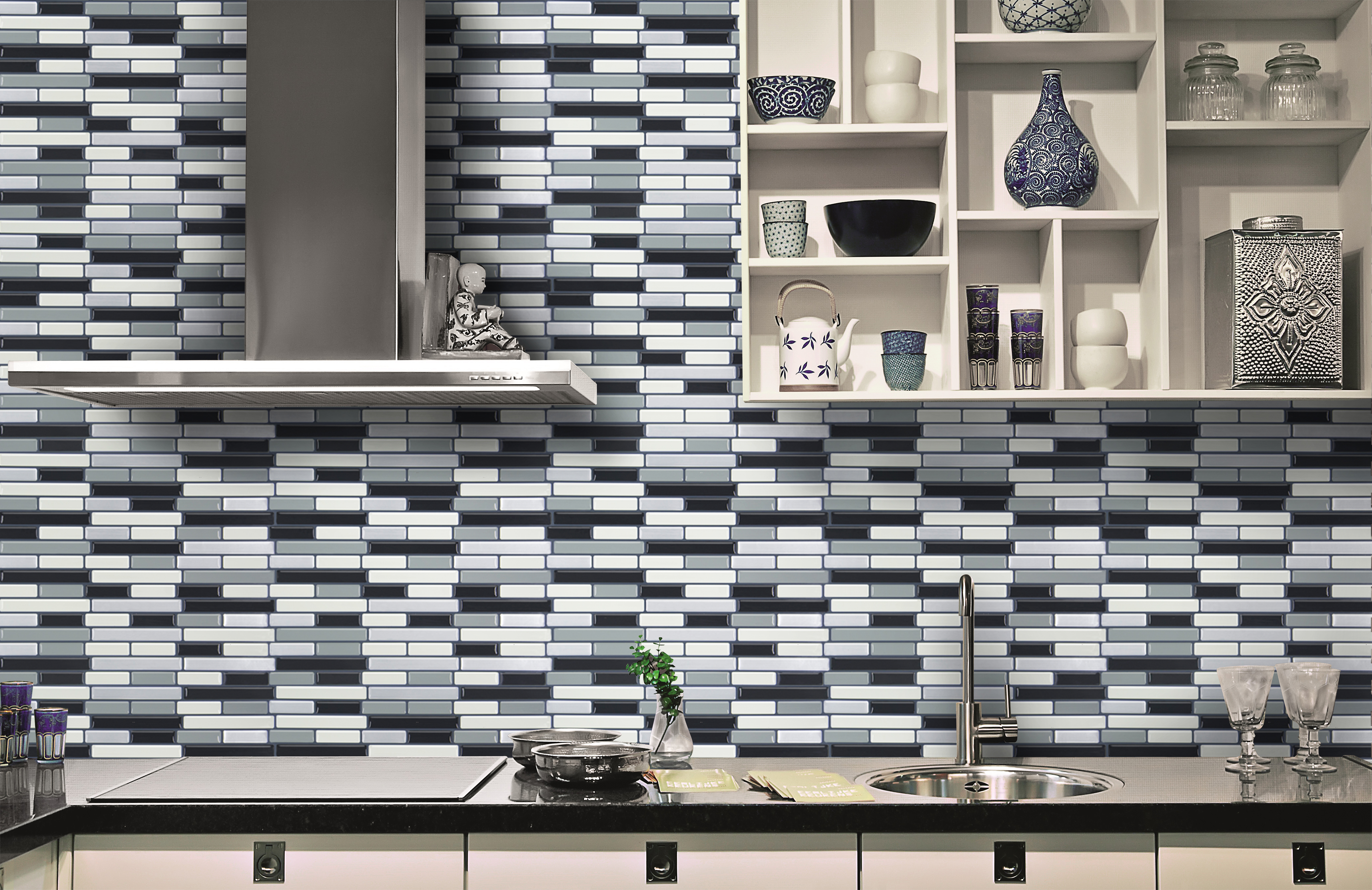 Tile Adhesive Over Painted Wall Peel And Stick Tile Kitchen Backsplash Sticker Gray Brick 250 250mm Sheet Wall Stickers Aliexpress