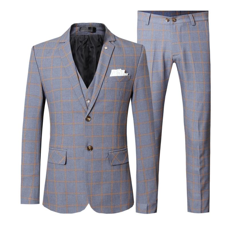 Boys Plaid Blazer Jacket Formal Dress Check Black Gray for Wedding