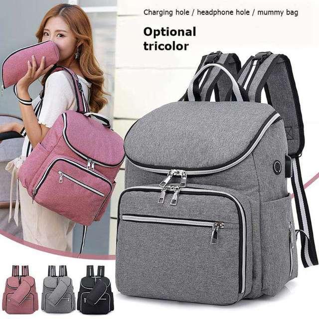 防水ミイラおむつバッグファッションおむつバッグ大容量ベビーケア看護バッグ母多機能バックパック
