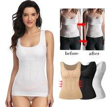 Women Body Shaper Slim Up Lift Plus Size Bra Tank Top Removable Shapers Underwear Slimming Vest Corset Shapewear