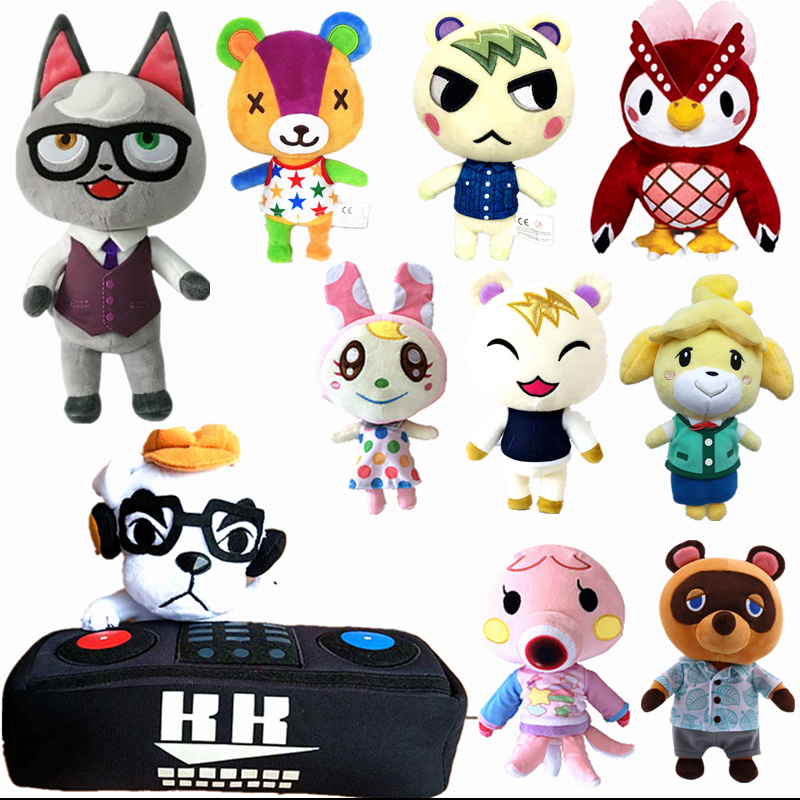 20cm Animal Crossing Plush Toy Give Away Amiibo Card Cartoon Raymond Jingjiang Doll KK Toys Plush Pillow Children's Gifts