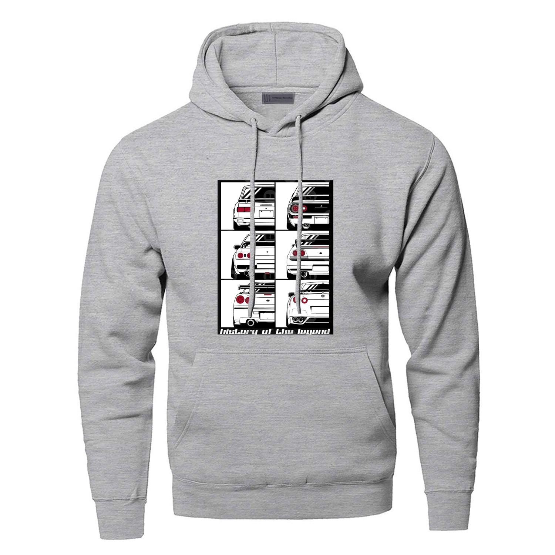 Novelty GTR Car Hoodies Men Cartoon Funny Skyline Graphic Hooded Sweatshirts Hoodie Streetwear Print Harajuku Workout Sportswear