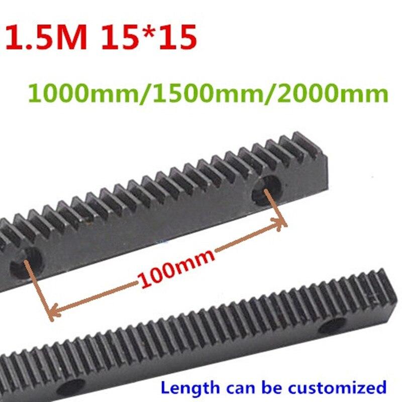 1000mm 1.5Mod 15*15 1000mm 1500mm 2000mm crémaillère de précision support de CNC (dents droites) CNC de crémaillère dentée machine