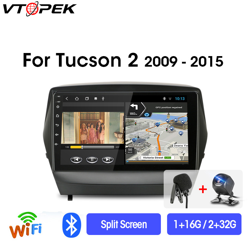 Vtopek 2din Android Multimedia Navigation Car-Radio Video-Player IX35 Hyundai Tucson