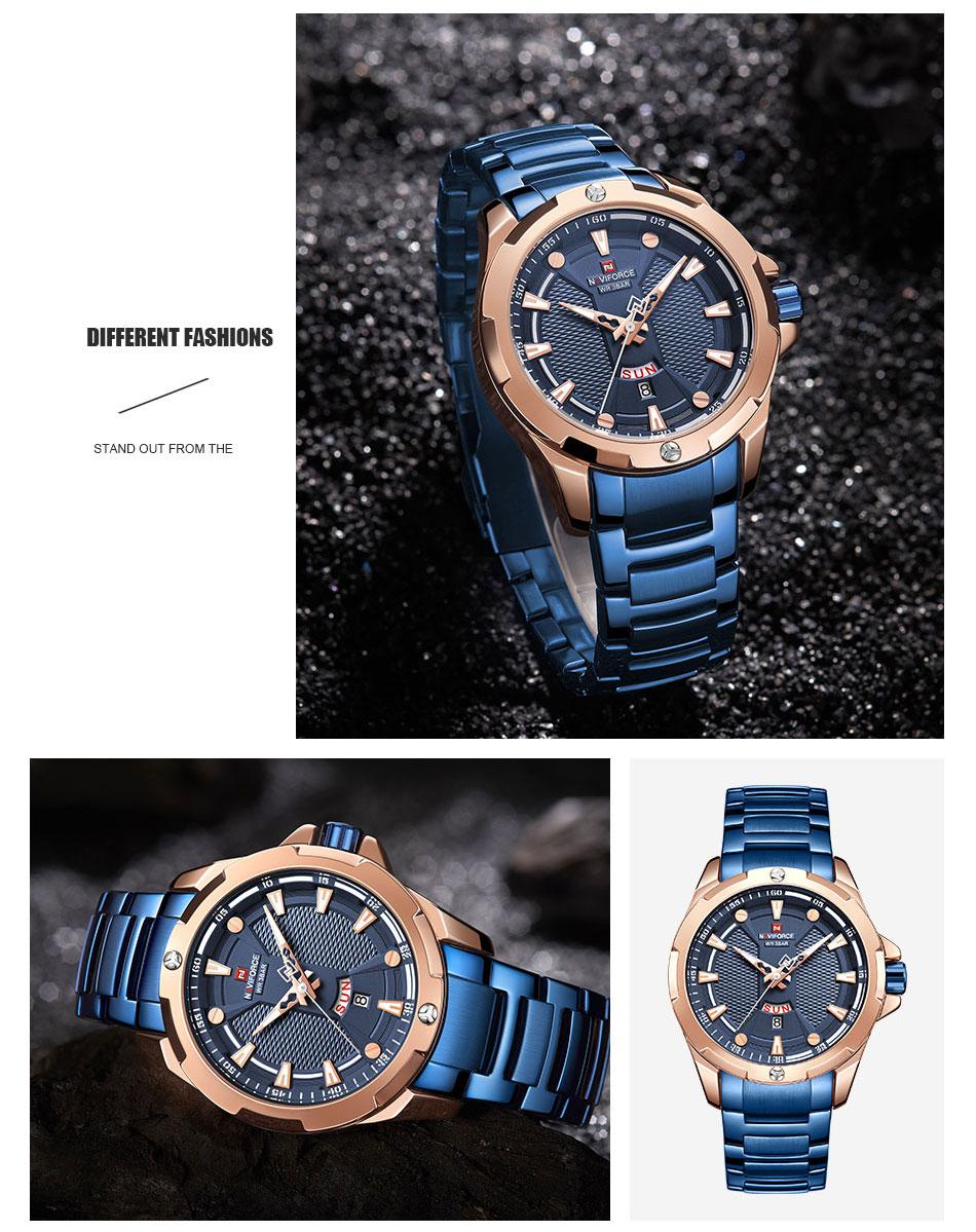 H5b97b789c0dc4329a599beae337ad673y Men's Watches Top Luxury Brand NAVIFORCE Analog Watch Men Stainless Steel Waterproof Quartz Wristwatch Date Relogio Masculino