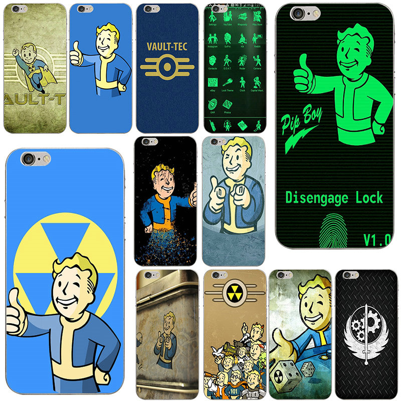 Fallout Vegas Pip <font><b>Phonecases</b></font> Vault Boy Soft TPU Silicone Mobile Phone Cases Cover for <font><b>iPhone</b></font> 6 6s Plus 7 <font><b>7Plus</b></font> X SE 5s 5C 5 4 4S image