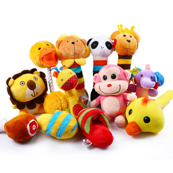 10/20/50 Pack Dog Squeaky Toys Plush Games Cute for Small Medium Fleece Wholesale