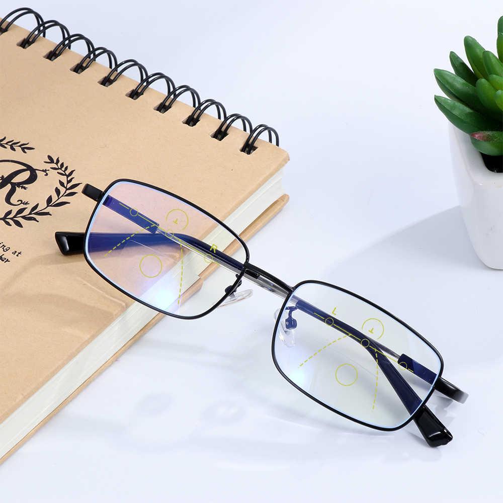 Blu di Blocco Luce Occhiali Occhiali da Vista per Computer Progressive Multifocali Occhiali da Lettura Presbiopia Occhiali Reader 1.0 ~ 4.0