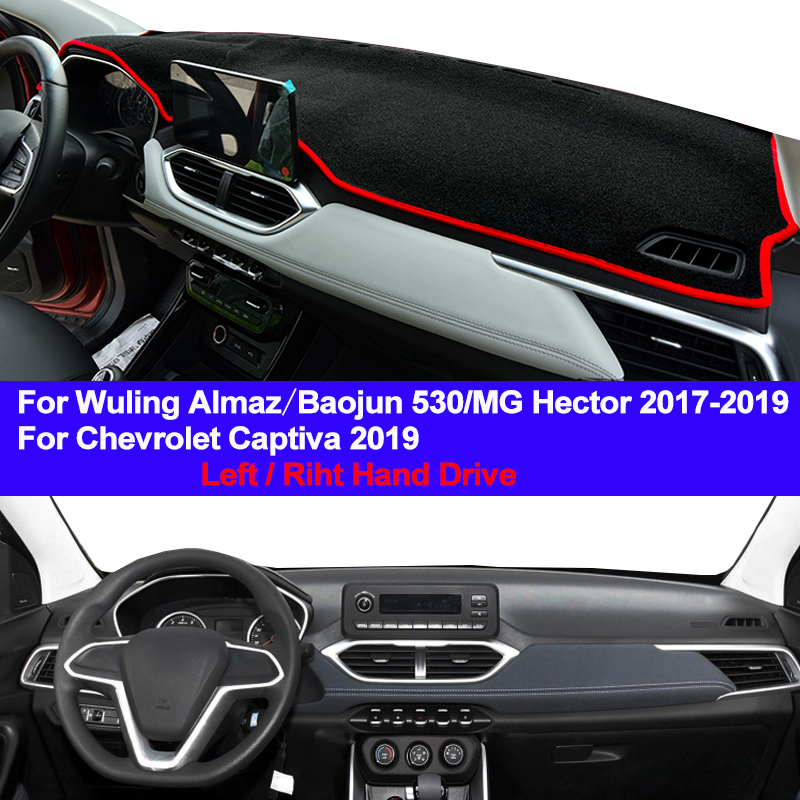 Car Dashboard Cover Dash Mat Carpet For Wuling Almaz Baojun 530 MG Hector 2017 2018 2019 Chevrolet Captiva 2019 LHD RHD Dashmat