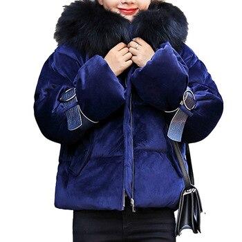 Winter Velvet Jackets Cotton Padded Jacket Women Parka Warmness Korean Fashion Casual Black Short Coats Oversize Outwear 2020 new fashion women female korean short type long sleeve slim motor zipper leather jackets coats