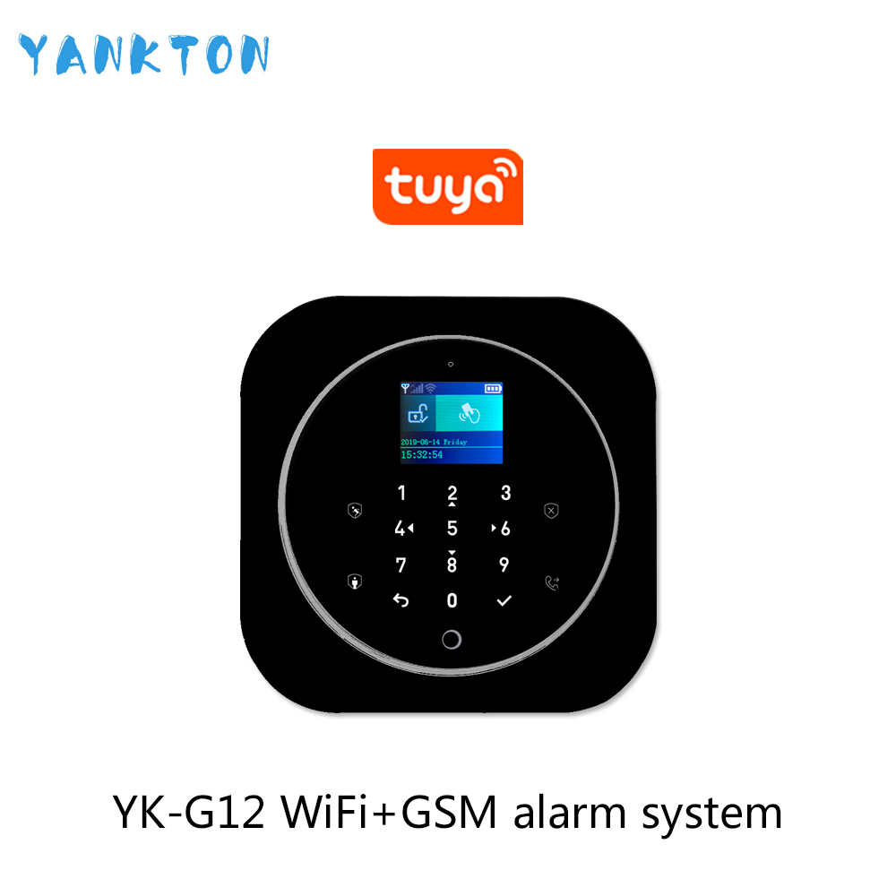 Tuya 433MHz GSM WiFi Wireless Home Security&Burglar Alarm System With PIR Motion Sensor/Door Sensor/Siren Alarm Set