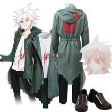 Costume de Cosplay Dangan Ronpa 2, Costume Nagito Komaeda veste à capuche, Anime perruque chaussures t-shirt Halloween pour femmes et hommes