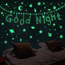 DIY Fluorescent-Toys Room-Decoration Bedroom Wall-Sticker Bubble-Stars Glow-In-Dark Luminous