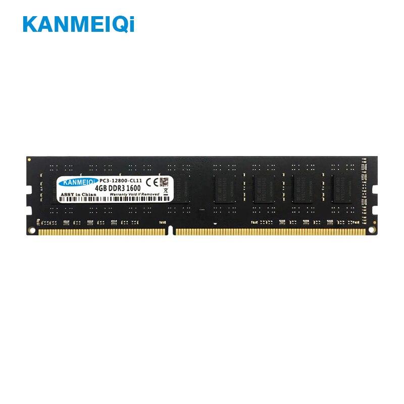 KANMEIQi DDR3 2GB 4GB PC3 8GB 1333mhz 1600MHz Módulo de Memória RAM Do Computador Desktop 240pin 1.5V dimm Memoria Nova