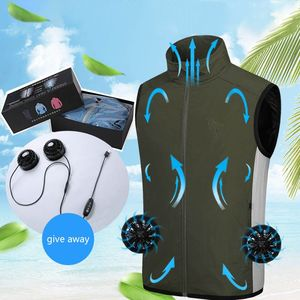 Вентиляторный жилет, летняя охлаждающая вентиляторная одежда, одежда для защиты от солнца, куртка, спортивные туристические жилеты для акт...