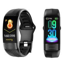 P11 SmartbandความดันโลหิตBand Heart Rate Monitor PPG ECGสมาร์ทสร้อยข้อมือกิจกรรมฟิตเนสTracker Electronicsสายรัดข้อมือ