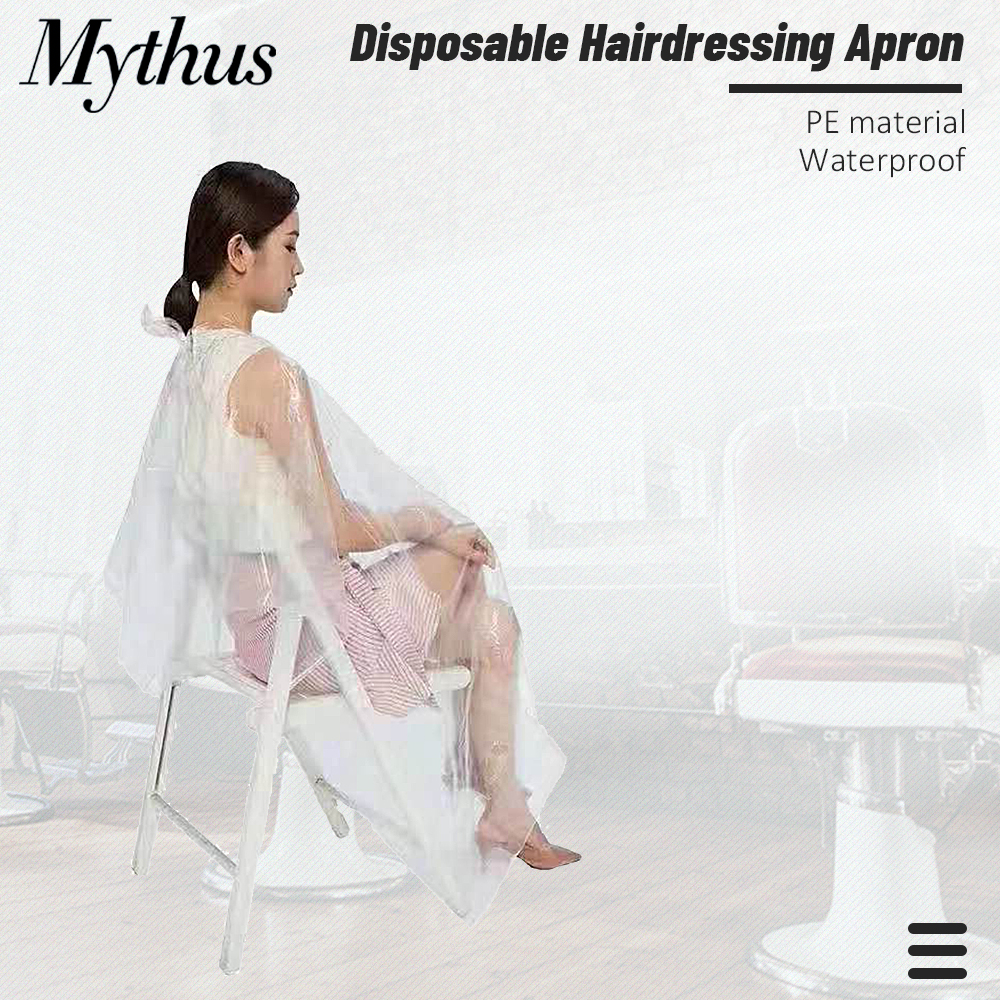50/100 Pieces Hairdressing Coloring Dye Gown Apron Hair Perming Cape Waterproof Transparent Disposable Hair Cutting Cape