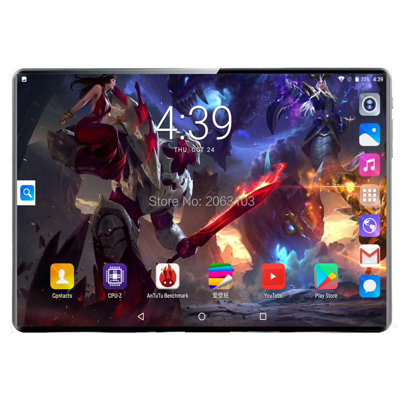 2020 New 10.1 Inch Tablet PC 2.5D Steel Screen Android 9.0 8GB+128GB ROM 10 Core 4G Phone Call Bluetooth Wi-Fi Tablet +Keyboard