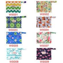 Ohbabyka kullanımlık yıkanabilir ıslak çanta hijyenik ped için regl sıhhi teyze çanta Mama umumi tuvalet havlusu ped çantası Dropshipping 6 renkler