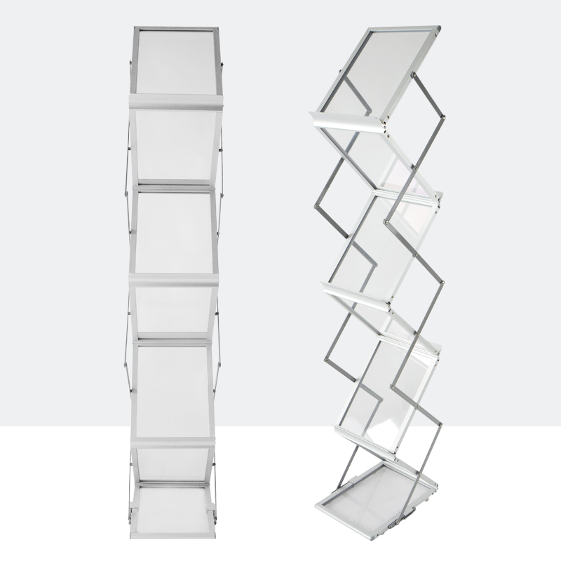 Folding Information Shelf Catalogue Shelf To Publicize Magazine Rack Landing Exhibition Display Shelf Book And Newspaper Shelf