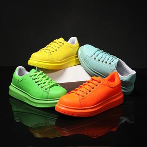 Image 2 - Shoes Man's Scarpe Donna Spring Autumn Genuine Leather Flat Couple Casual Shoes Tenis Feminino White Sneakers Women Basket Femme