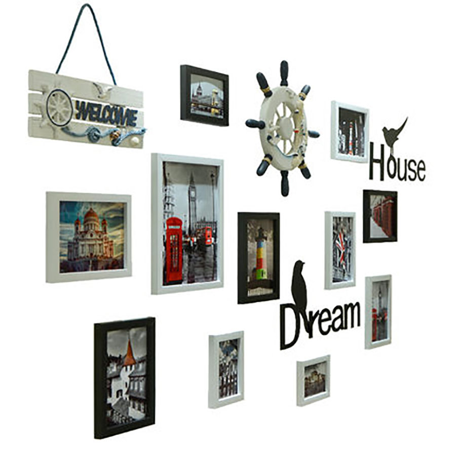 Vintage Black Picture Frames Wall Photo Frame Modern Photo Wall Decoration Wedding Photo Frame Family Wall Home 60W020