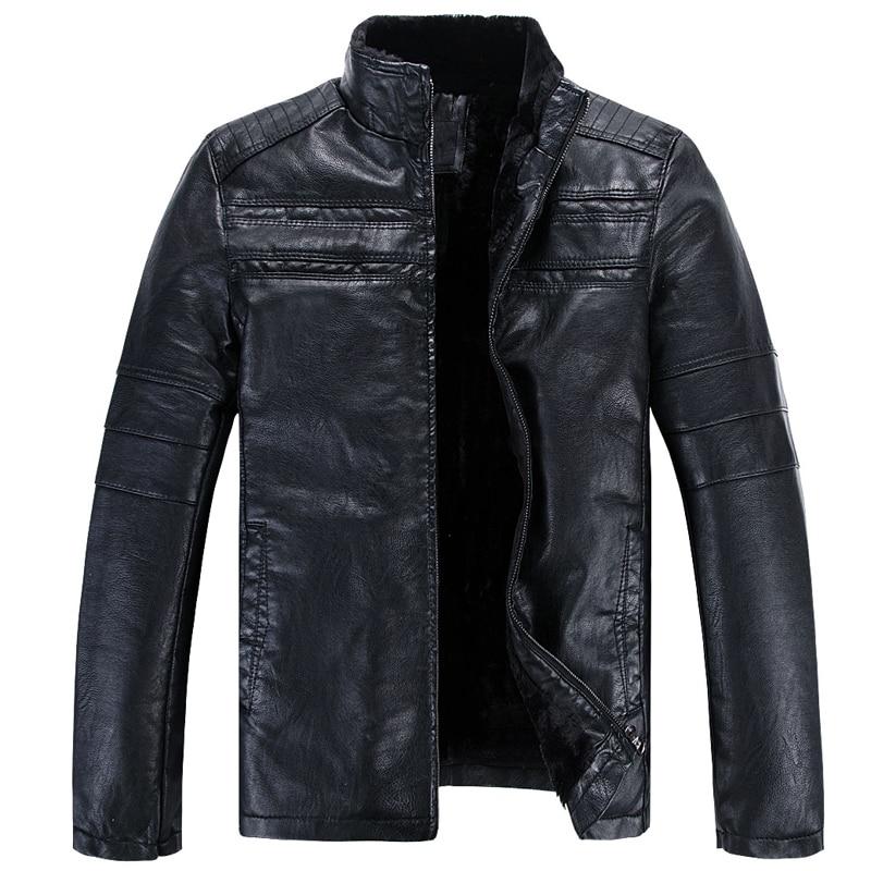 Russian Warm Mens Faux Fur Coat Vintage Casual Streewear Winter Style Mans Faux Fur Leather Jacket Overcoat Velvet Clothing A867