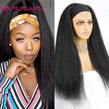 Scarf Wigs Human-Hair Kinky Straight Black-Women Brazilian for Italian-Yaki