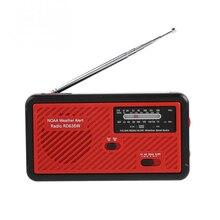 Аварийный фонарик Ручной радио рычаг солнечной энергии банк Fm Am Noaa радио с зарядным устройством для телефона на природе Рыбалка походы
