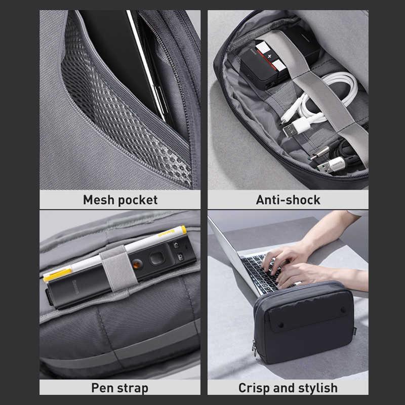 Baseus водонепроницаемая сумка для цифровых устрйоств, сумка для хранения кабелей, зарядное устройство, провода, органайзер, чехол, двойная молния, сумка для путешествий, электронная сумка для хранения