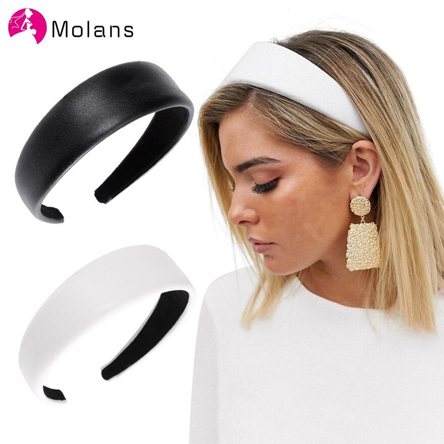 Nova moda de couro do falso headbands eleg simples 4cm largura plutônio couros mulheres hairbands moda larga aros de cabelo feminino headbands