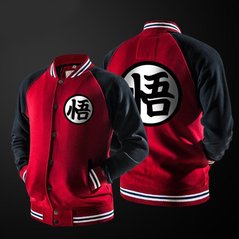 ZOGAA Anime Dragon Ball Goku Varsity Jacket Autumn Casual Sweatshirt Hoodie Coat Jacket Brand Baseball Jacket