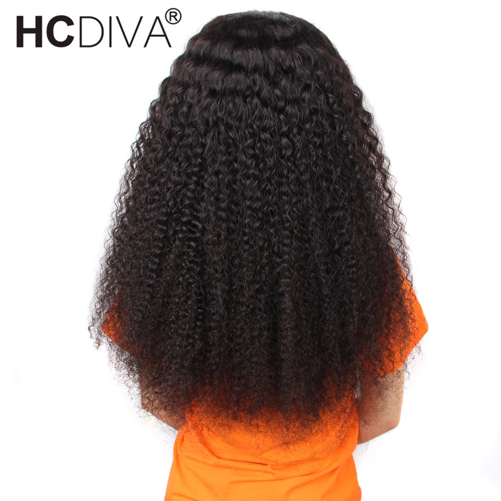 13*4 Lace Front Human Hair Wigs For Women Malaysian Afro Kinky Curly Wig 180% Remy Human Hair Wigs Pre Plucked With Baby Hair
