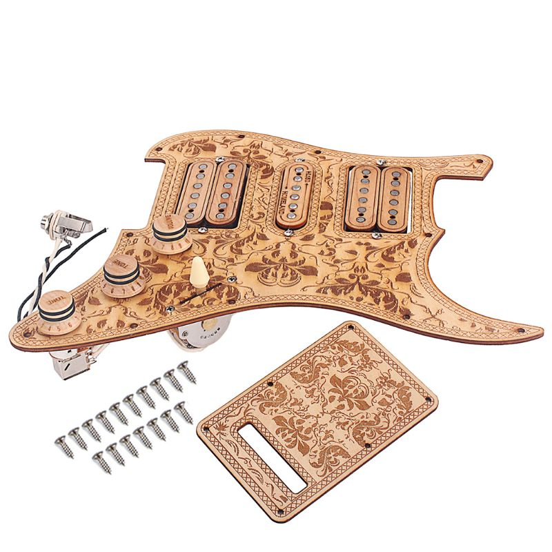1 Set Electric Guitar HSH Pickguard Anti scratch Plate Maple Wired Humbuckers Pickup Musical Instrument Accessory L9BD