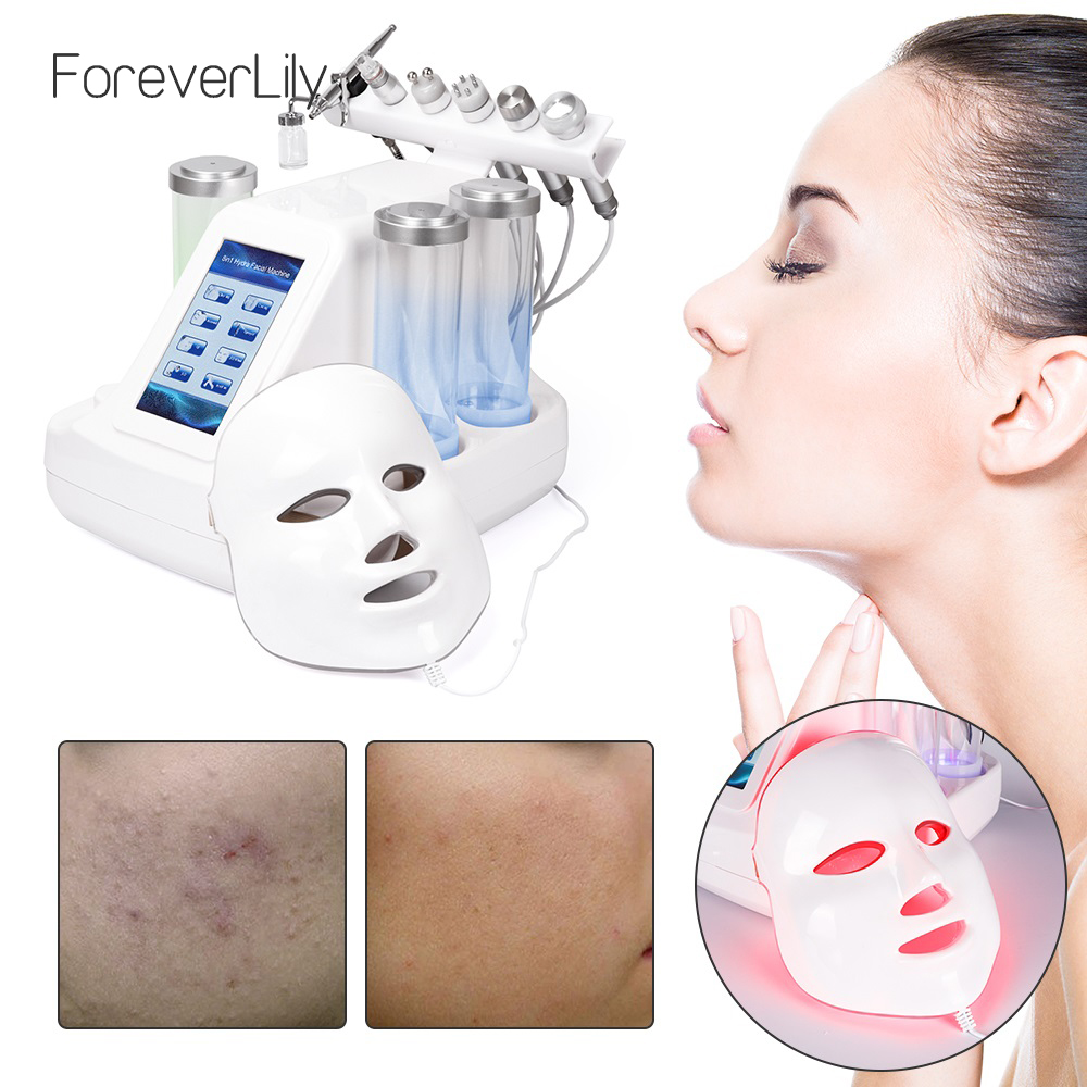 7 In 1 Hydra Dermabrasion Peel Clean Skin Care BIO Light RF Vacuum Face Skin Cleaning Hydro Water Oxygen Jet Peel Machine