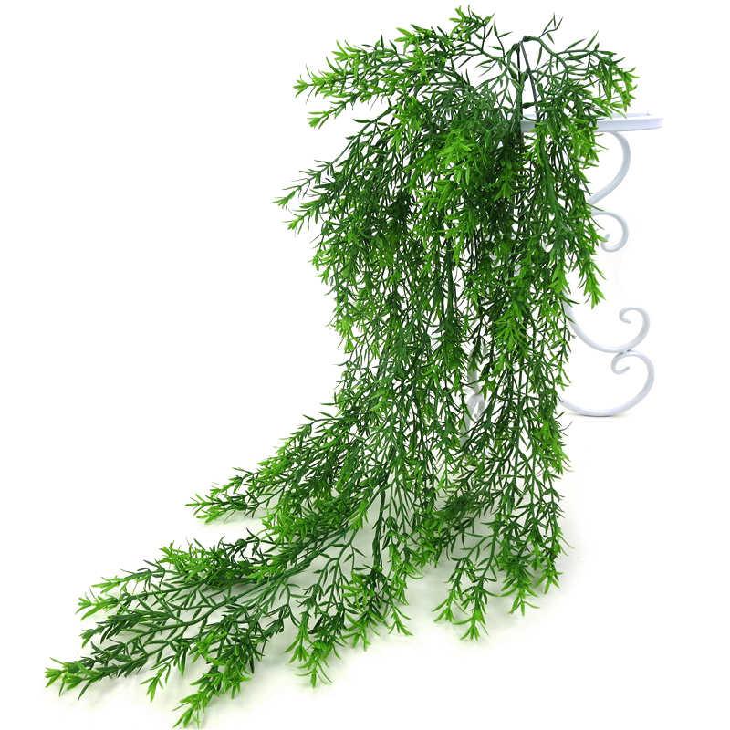 5 الشوك الاصطناعي البلاستيك الفارسي السرخس شجرة يترك محاكاة النباتات الخضراء وهمية يترك الروطان حديقة المنزل الجدار الديكور 85 سنتيمتر