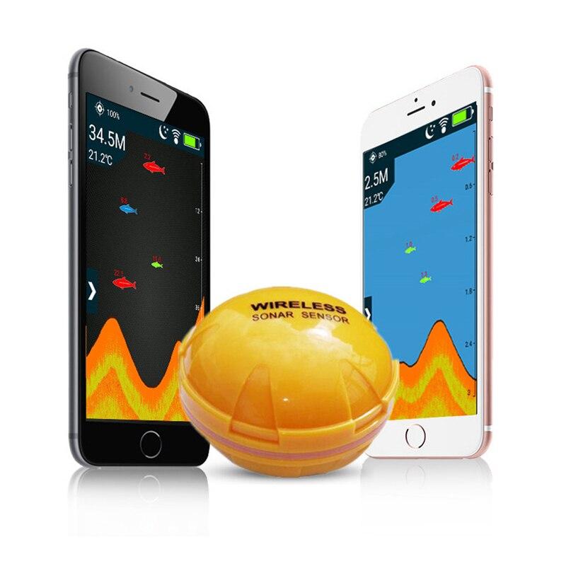 Neue Drahtlose Bluetooth Smart Fisch Finder Echolot Sonar Fishfinder Meer Fisch Erkennen