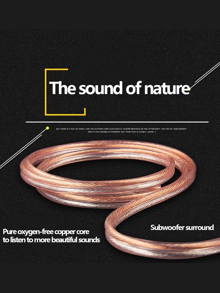 Speaker Cable Audio-Line Amplifier Dj-System Copper Oxygen-Free Hi-Fi Home Theater Loud