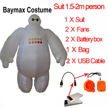 Baymax Costume For Adult Kids Big Hero 6 Fantasia Cosplay Halloween Inflatable Costumes Minion Pikachu Suit Women Men