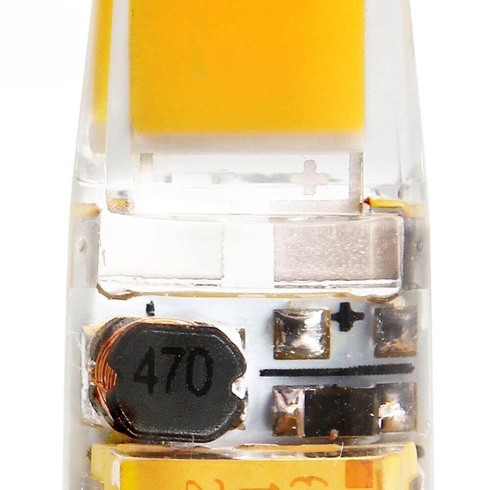 100Pcs/Lot Mini G4 LED Lamp Dimmable AC/DC 12V 6W LED G4 COB Bulb Replace Halogen Spotlight Chandelier LED Lights - 4