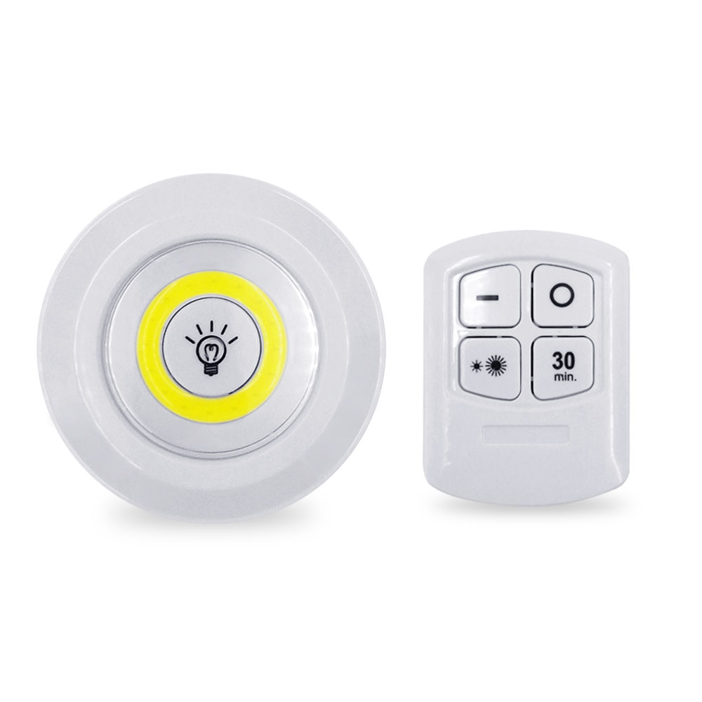 3W COB Adjustable LED Remote Control Night Light Suitable For Kitchen Wardrobe Stairs Corridor Emergency Light