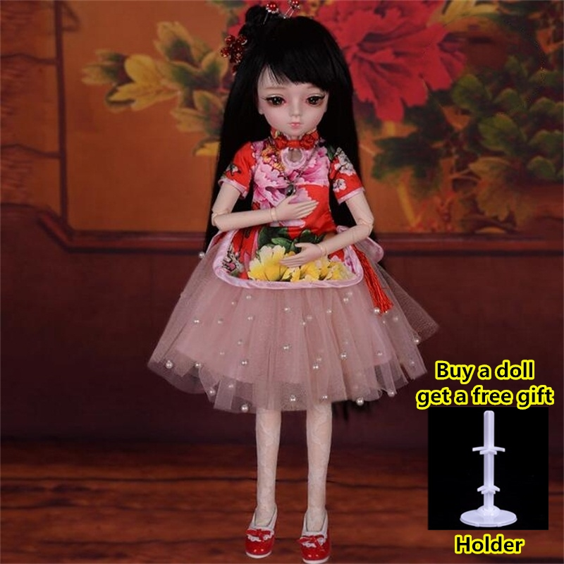 18 Movable Joints BJD Doll 1/4 With Full Outfits Wigs Shoes official Makeup Ball Jointed Dolls collection kids toys Christmas gi 18