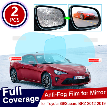 for Toyota 86 GT86 FT86 Scion FR-S Subaru BRZ 2012~2019 Anti Fog Film Cover Rearview Mirror Rainproof Anti-Fog Films Accessories image