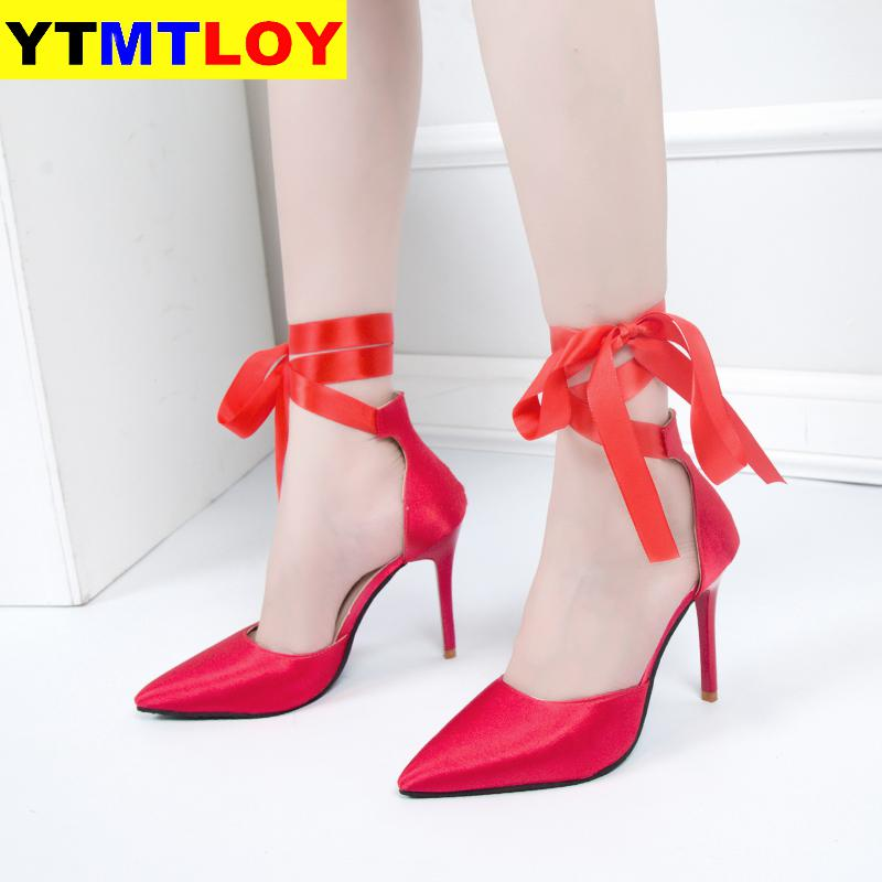 New Women Sandal High Heels Gladiator Ankle Strap Sandals Summer Ladies Party Pumps Shoes Sandalia Feminina Big Size  Casual