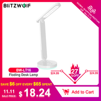 BlitzWolf BW LT16 Floding Desk Lamp with Automatic RGB Ambient Lighting Base Touch Control Stepless Dimming Table Desk Light