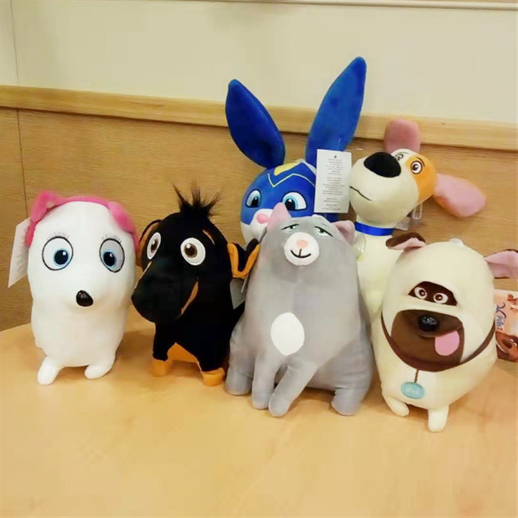 20cm Pets Secret Life Stuffed Doll SnowBall Bunny Max Dog Chloe Cat Gidget Plush Anime Figure Doll Decor Christmas Gift