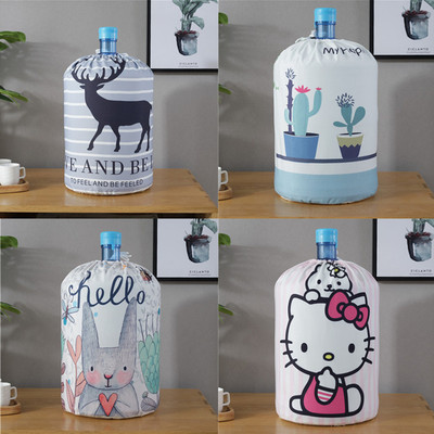 Cartoon Animal Printing Cloth Art Drinking Fountains Barrels Water Dispenser Dust Cover Household  Protector Cover
